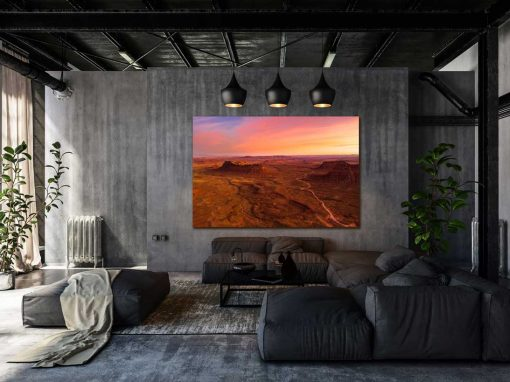 Frameless Metal Print Converted Warehouse Architecture