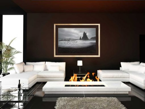 Modern Interior with Dark Walls